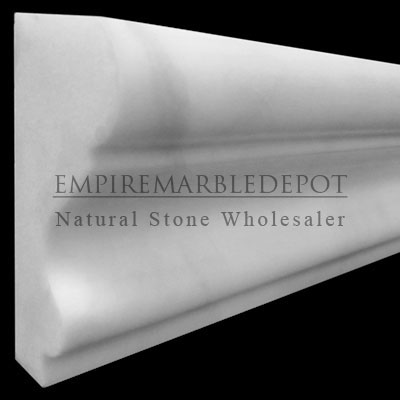 Bianco Dolomiti Marble Italian White Dolomite Crown Molding Polished